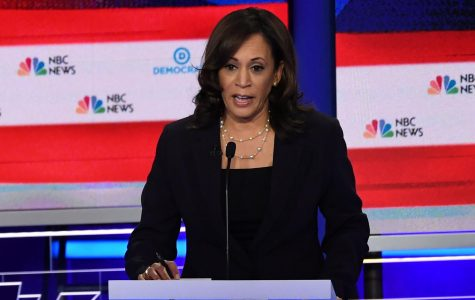 Kamala Harris speaking during the second Democratic primary debate (photo from abcnews.go.com)