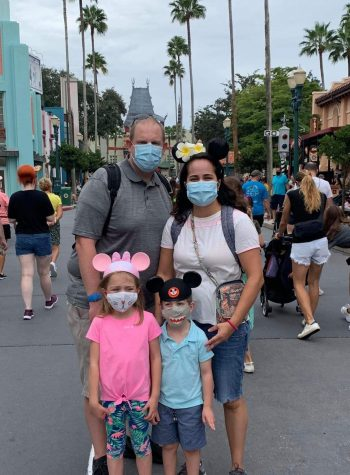 Former CHS student Rachel (Toyer) Aubrey and her family at Disney World this month
