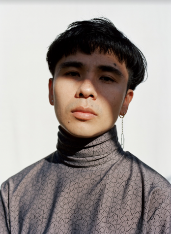 Ocean Vuong in a photoshoot for Interview Magazine (photo creds to Bjarne X Takata)
