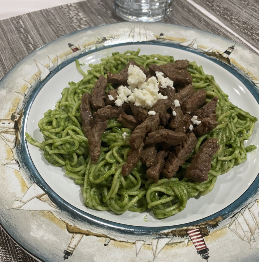 Homemade tallarin verde, a classic and simple Peruvian dish cooked using the recipe below! (Credit: Katerina Portela)