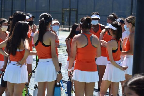 Cypress Girls Varsity Tennis ready for a game! Picture Credit: Jecy Liu