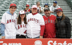 Mrs. Fried with her family on Mother's Day during the Angel game.
