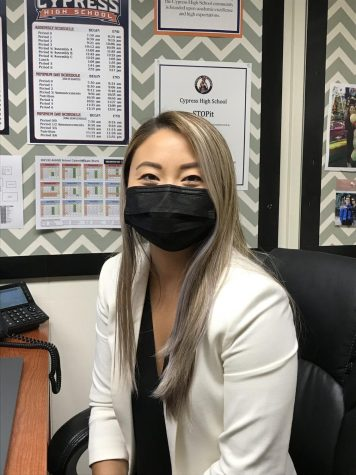 New counselor, Ms. Yi got her degree at Cal State Long Beach.